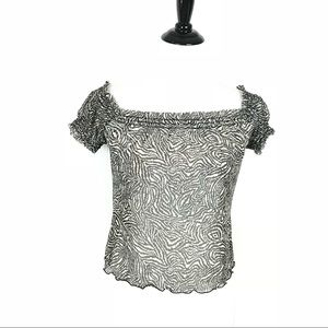 Betsey Johnson See Though Top Sheer Blouse